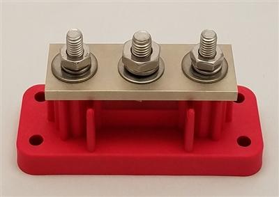 3phdbbr Heavy Duty 3 Point 700 Amp Bus Bar Red